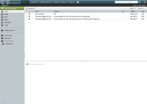 New webmail interface